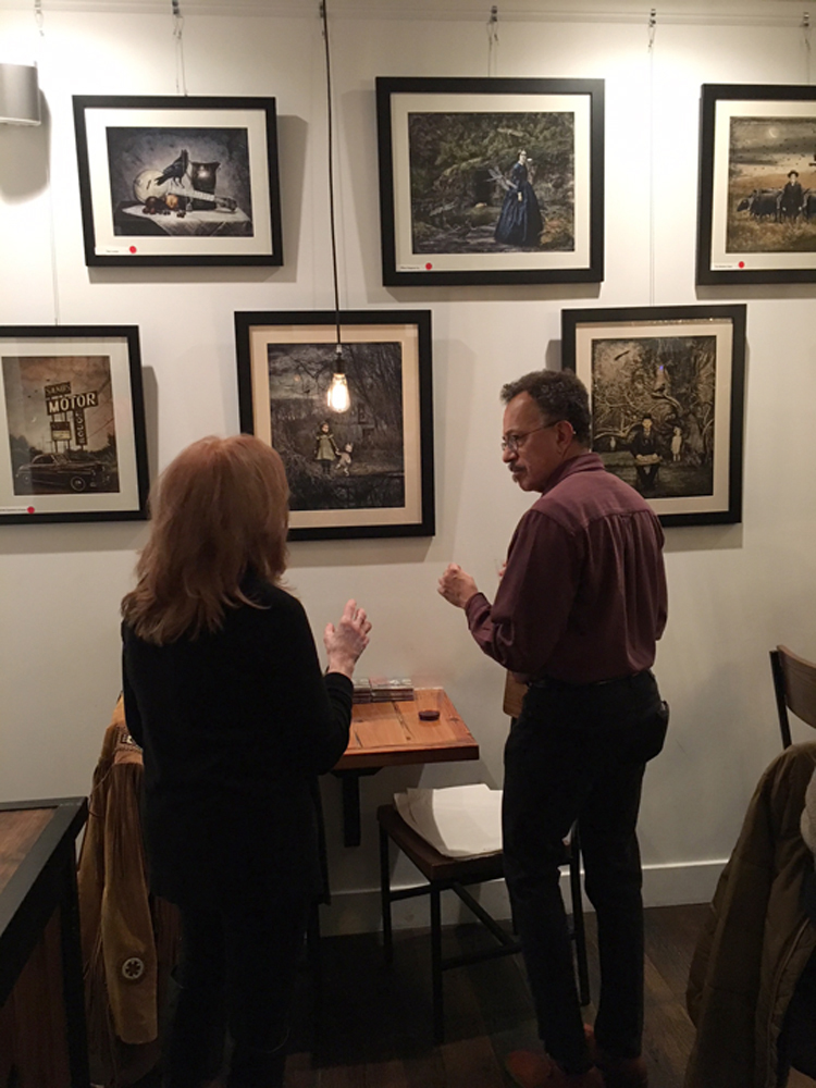 Opening reception of my solo show, The Treasure Chest, 2017, at The Coffee Box, Plainfield, NJ.