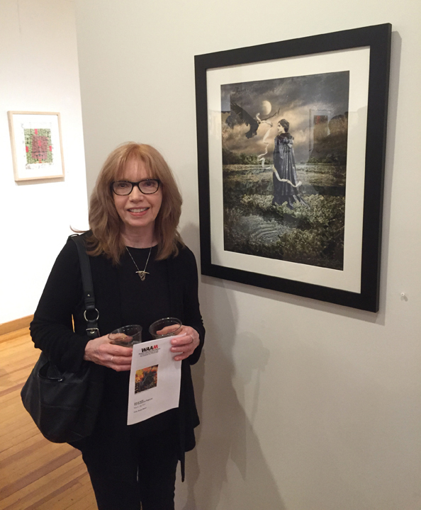 """I was very excited to receive The Nicholas Buhalis Award for Artistic Excellence for """"Lady of the Lake"""" in Far and Wide, 2017, The Woodstock Artists Association and Museum, Woodstock, NY.  AND, both of my pieces sold!!"""