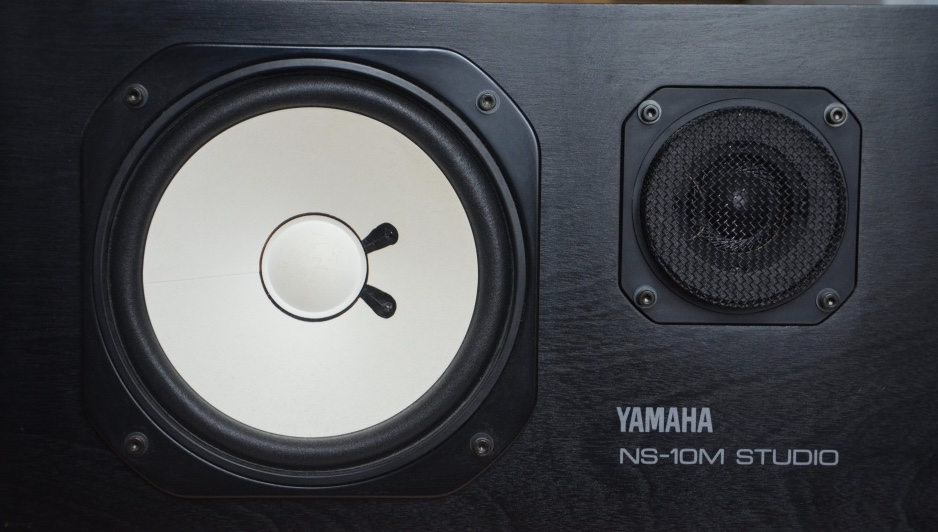 The real-life frequency response of the NS-10 provides a raised mid-range and a gentle top-end roll off.