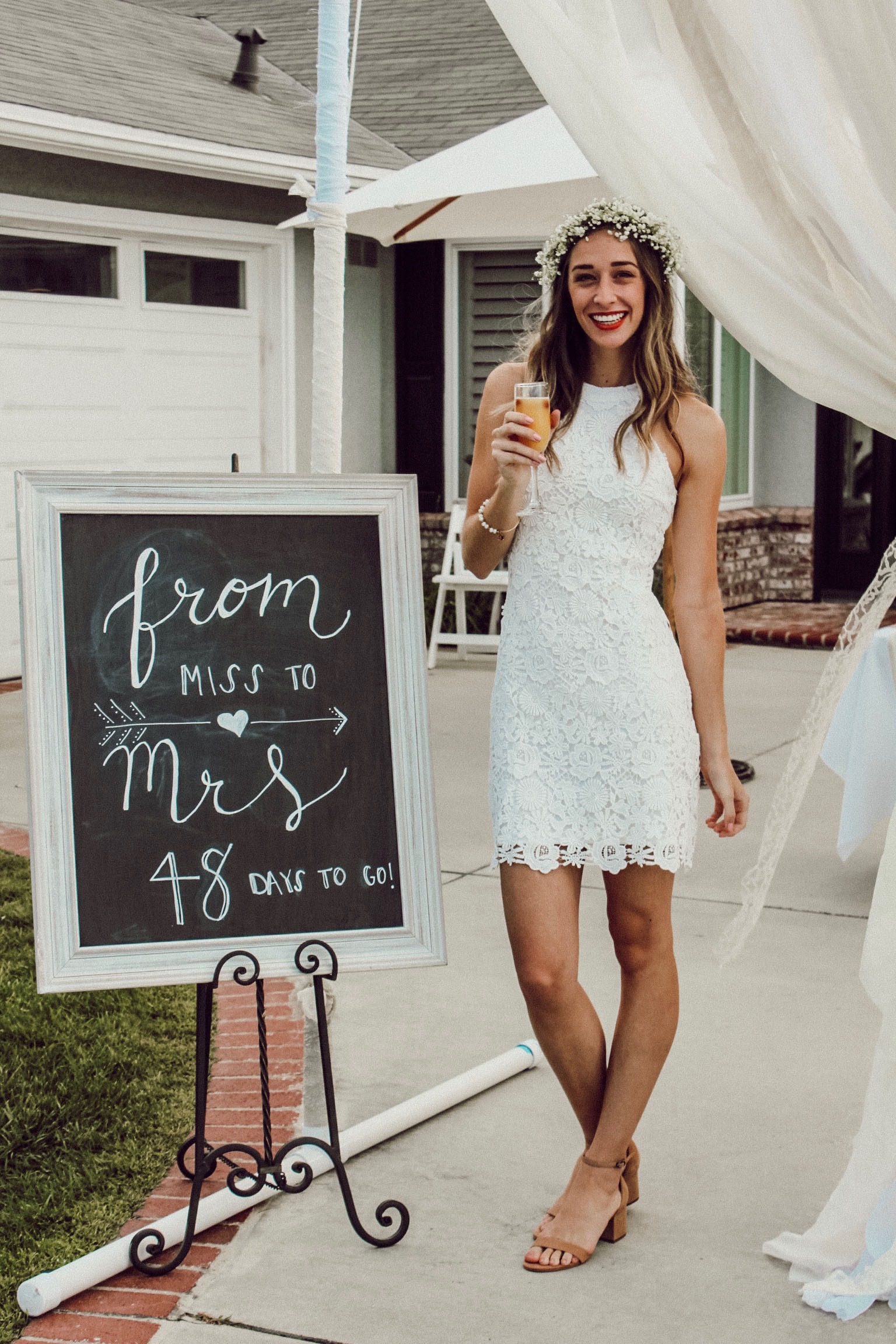 Bridal shower dress from Lulu's  linked here