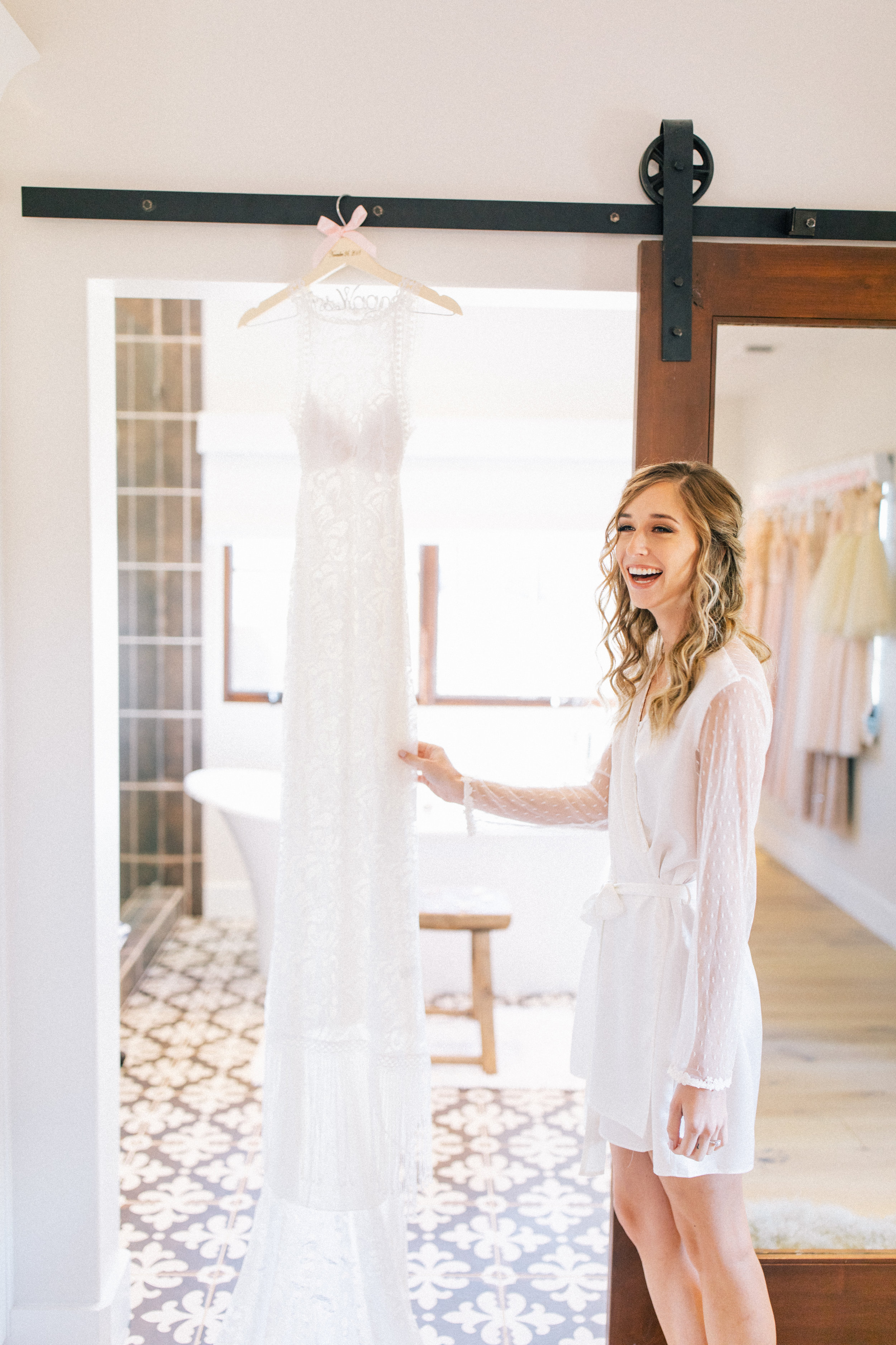"""Wedding day """"getting ready"""" robe is from Nordstrom,  linked here"""