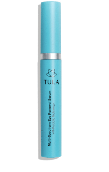 tula multi-spectrum eye renewal serum - This eye serum helps with under eye puffiness and wrinkles. I especially love the way it feels when you apply it because the metal part is cold and refreshing.