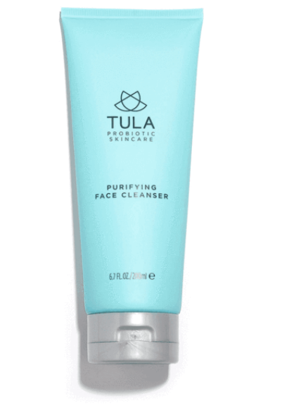 tula purifying face cleanser - This is the cleanser I use to wash my face in the morning and at night. I apply it with my hands, and then use the Vanity Planet facial cleansing system to really cleanse my skin.