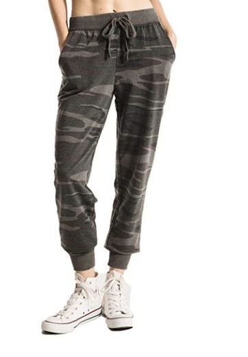 Camo sweatpants - Cozy and cute, can't beat it :) I wear mine all the time around the house.