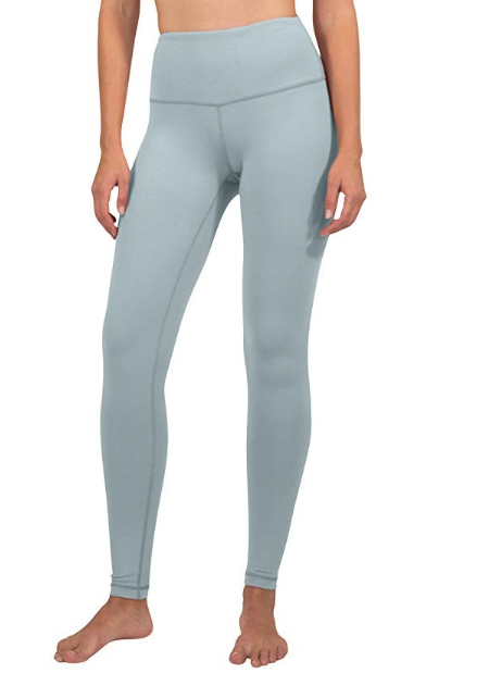 """90 degree by reflex leggings - These Lululemon dupes are high waisted and are only $25! They come in SO many different colors- I have it in color """"shadow blue"""""""
