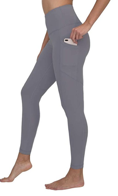 """90 degrees by reflex yoga leggings - These Lululemon dupes are only $26 and are very similar to Lulu's. They have pockets on the side to workout in, which is one of the reasons I love these most. They come in many colors- I have them in color """"grey opal"""""""