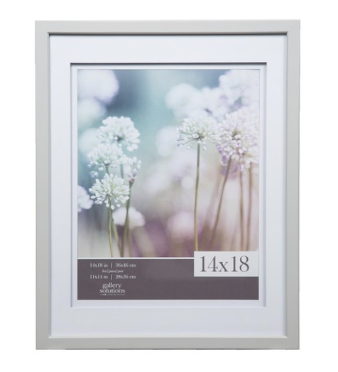 light grey wood wall frames - My husband and I have three of these in our living room with black and white photos from our wedding day. We love them!
