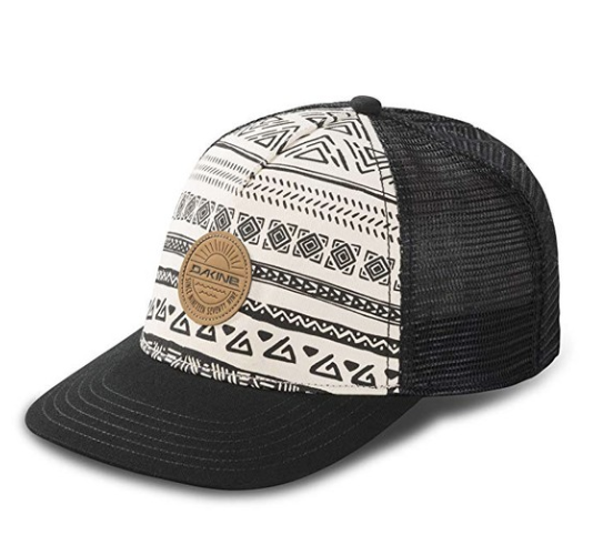 dakine trucker hat - I don't have this exact one (mine is green with a pineapple on it), but it is the same brand. I wear mine when I go for a run outside, to the beach, and around town. It's my absolute favorite trucker hat brand.