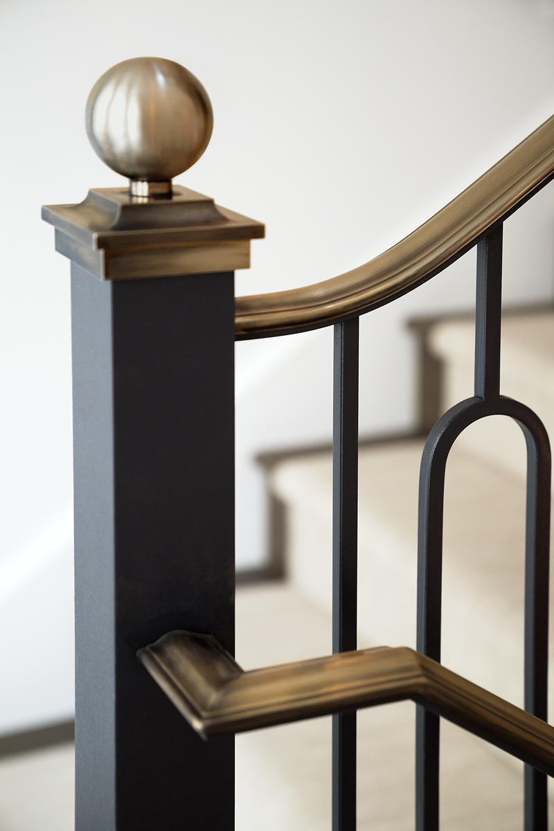 CUSTOM BRASS NEWEL POST FINIAL