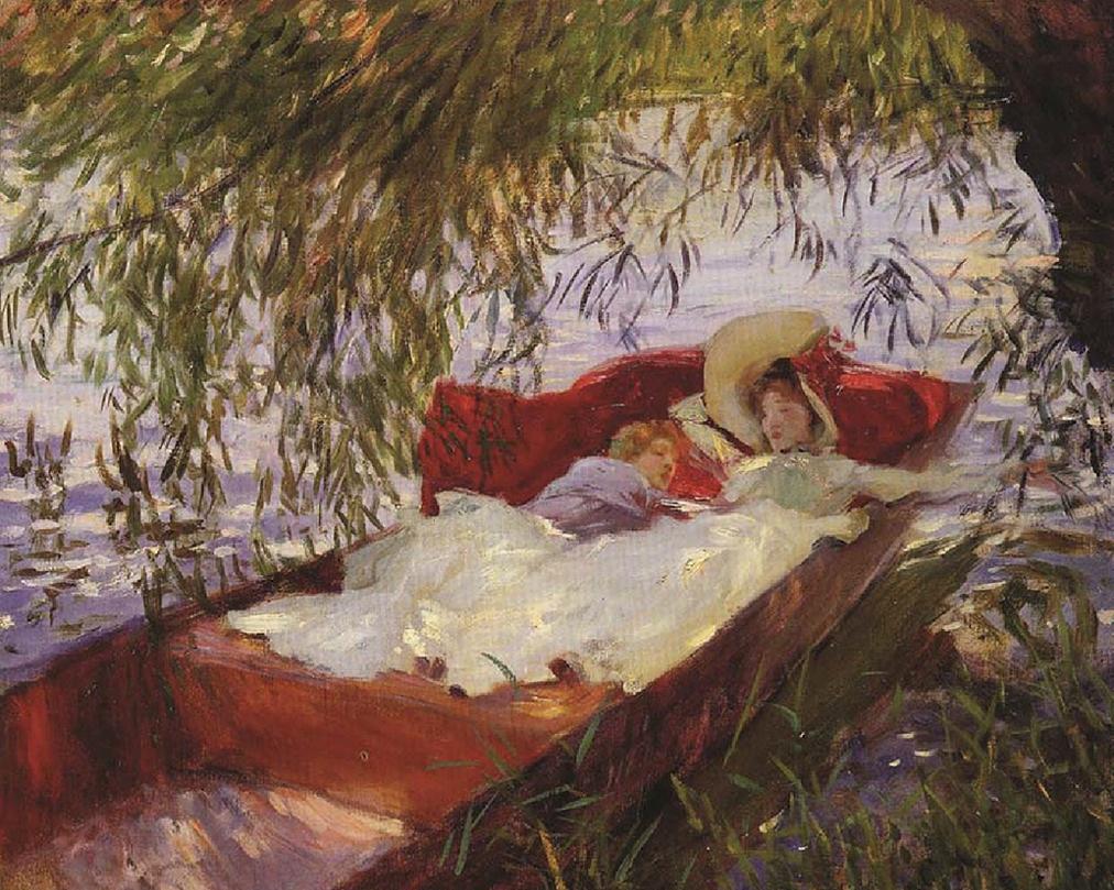 two women asleep under the willows - John Singer sargent