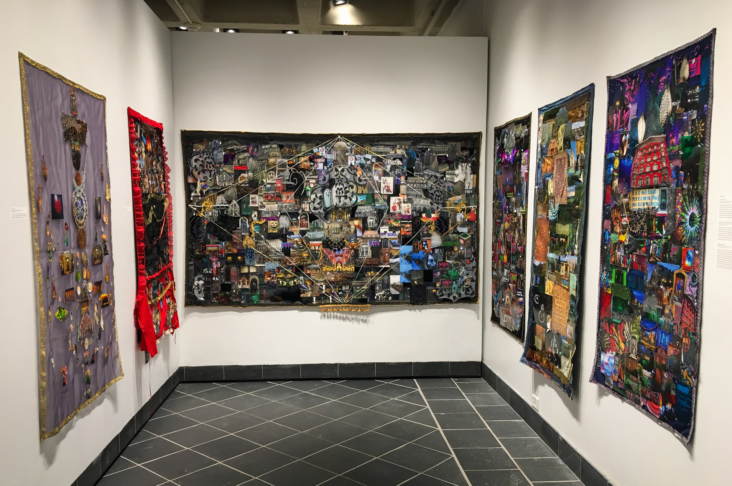 Installation view of all six tapestries.