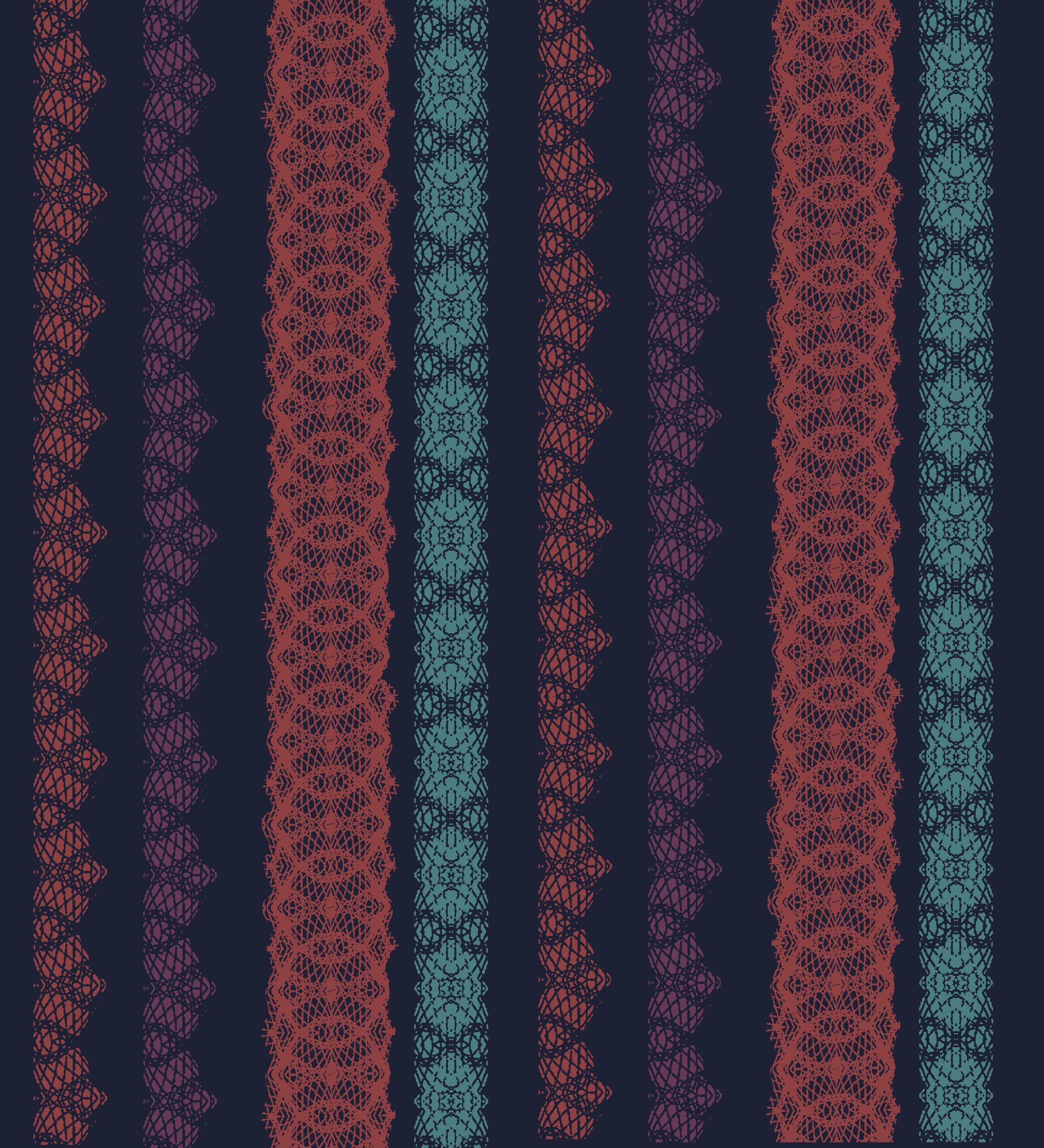 Lace Stripe ~ Navy