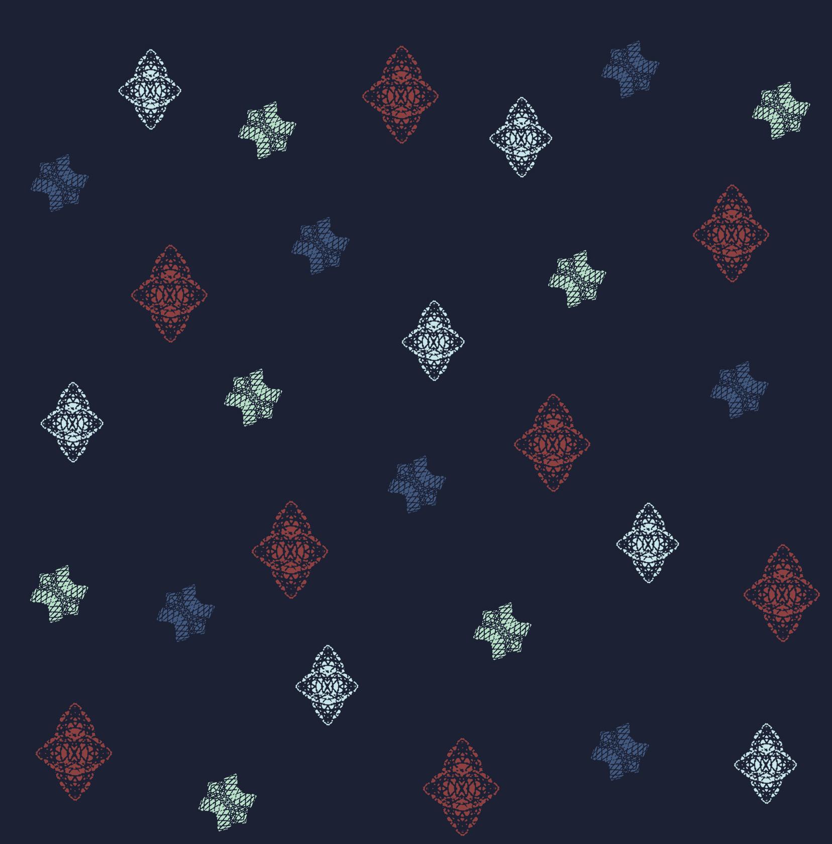 Lace Bursts ~ Navy