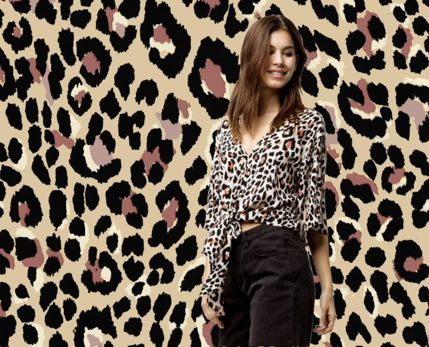 Sketchy Leopard ~Mauve | Tilly's