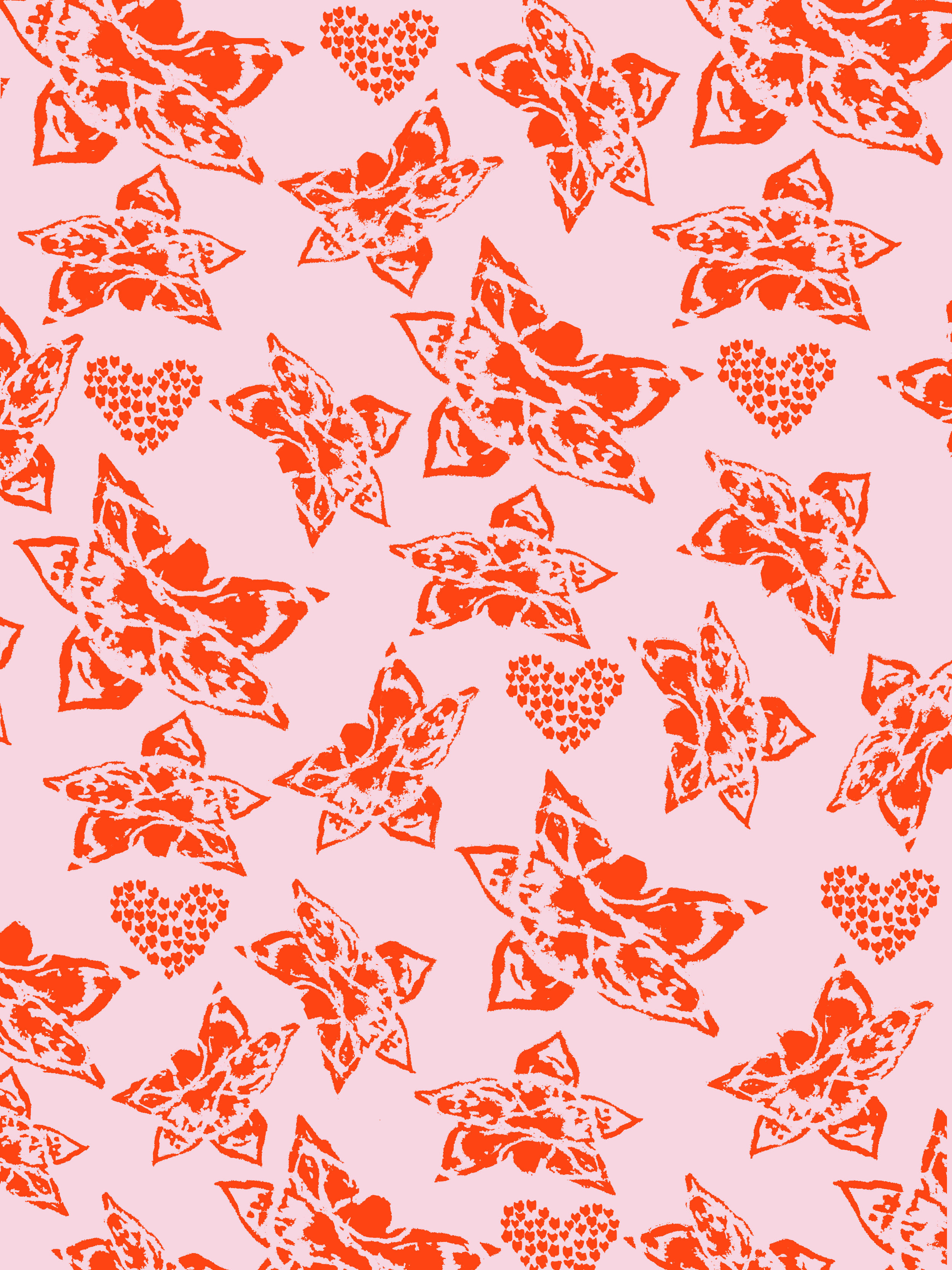 Hearts & Leaves ~ Pink