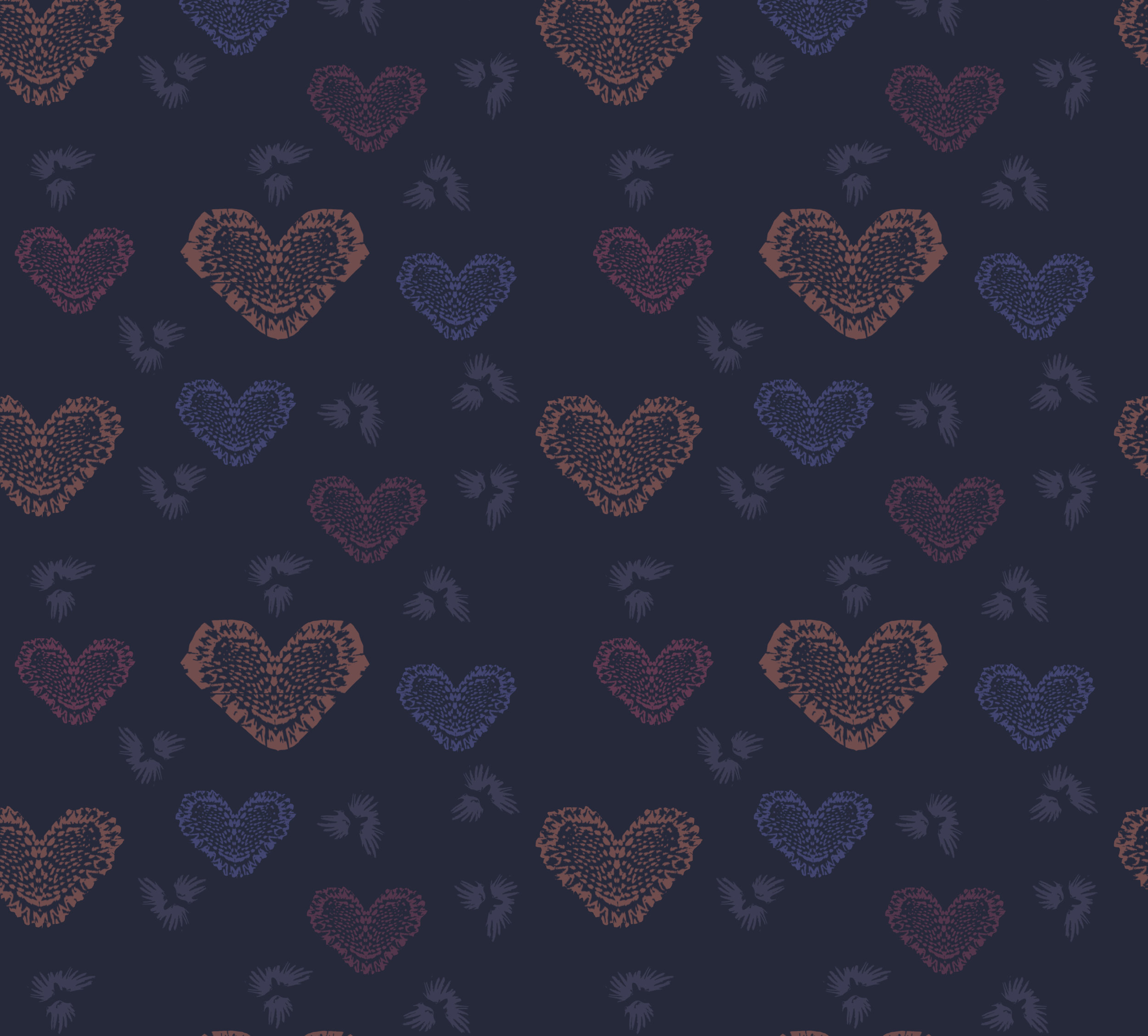 Heart Doily ~ Navy