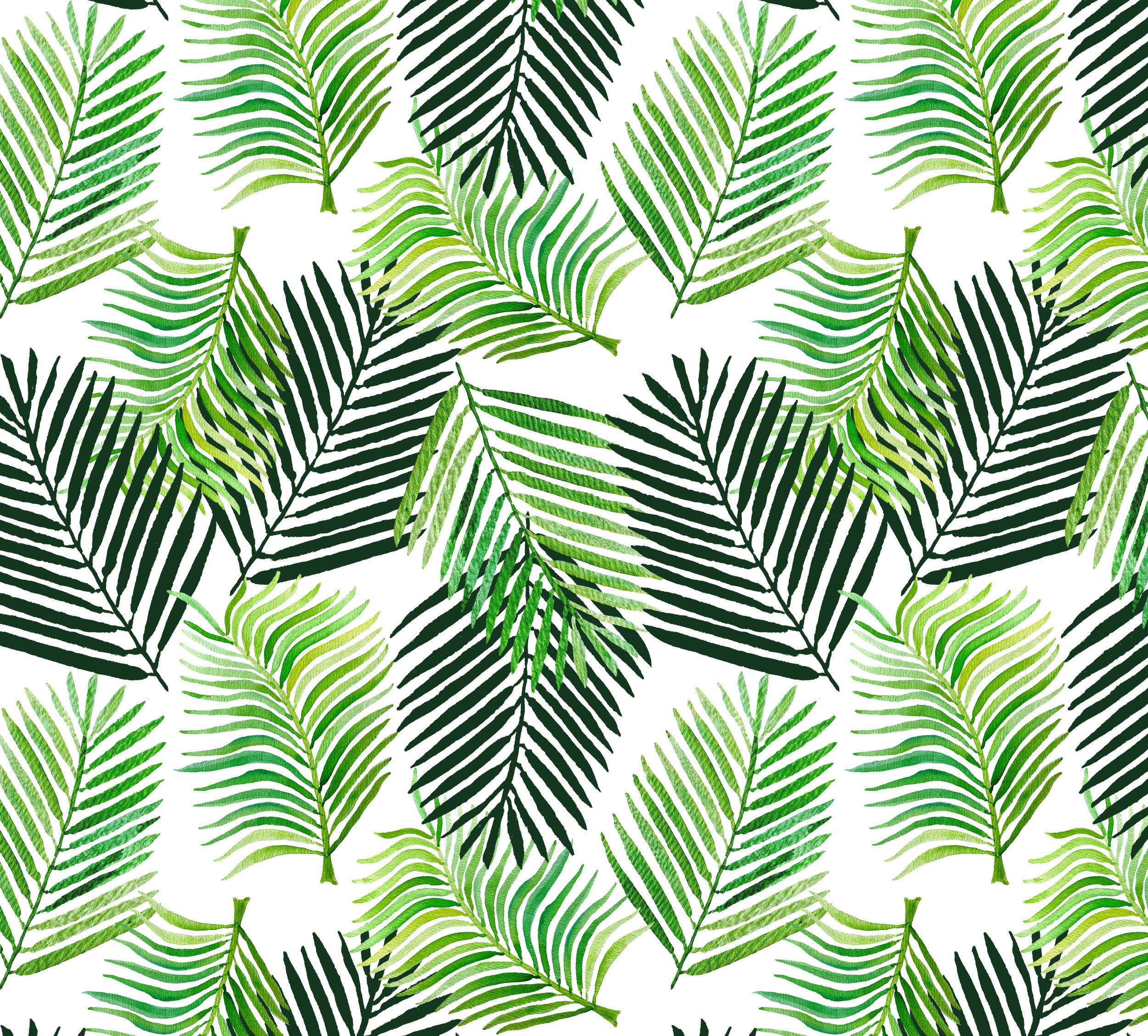 Palm Leaf Overlay ~ White