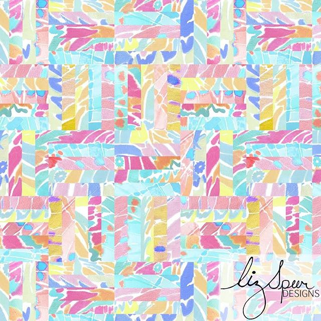 DAY 14 of #100daysofreconstructedpaintedpatterns & this one fits my hashtag as one of my true reconstructed patterns. I used watercolor to paint butterfly wings & then brought my paintings into the digital age to dissect my them & then reconstruct them in this pattern. 🦋 Available for print licensing.  @lizspeerdesigns LizSpeerDesigns.com . . . #artlicensing #surfacepatternlife #butterfly #surfacepatterndesign #patterndesign #textilepattern #printsandpatterns #garmentprints #licensedprints  #watercolor #Abstractpattern  #stationaryshop #wallpaperprint  #inspo #handpainted #swimwearprint #designlife #surfacedesign #summerprints  #patternplay  #reconstructed #textiledesign #art #puzzle #sketchoftheday #abstract  #surfacedesign #surfacepattern #patterndesigners