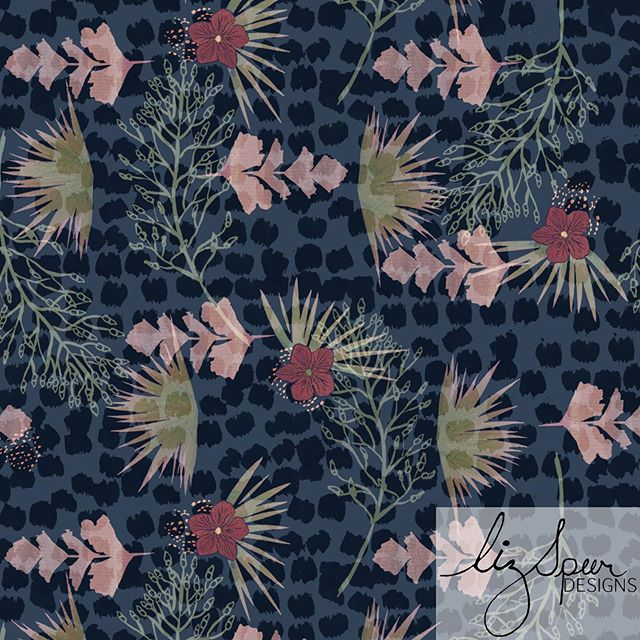 DAY 15 of #100daysofreconstructedpaintedpatterns  I tend to design with swimwear in mind but I think this print lends itself to much more. . . . #artlicensing #surfacepatternlife #leopard #surfacepatterndesign #patterndesign #textilepattern #printsandpatterns #garmentprints #licensedprints  #watercolor #Abstractpattern  #stationaryshop #wallpaperprint  #textiledesign #handpainted #swimwearprint #designlife #surfacedesign #summerprints  #blueandpink  #reconstructed #textiledesign #art #painterly #100daysofpatterns #abstract  #surfacedesign #surfacepattern #patterndesigners