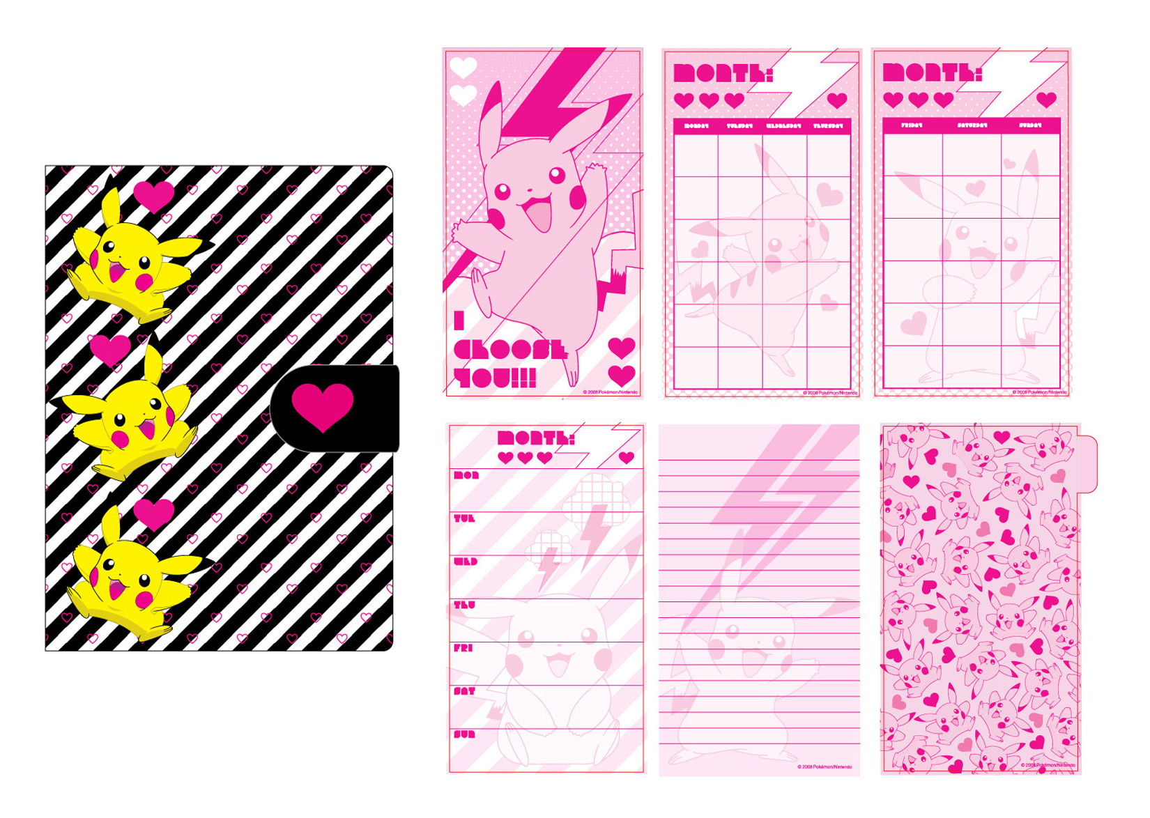 POKEMON PIKACHU DAILY PLANNER FOR HOT TOPIC