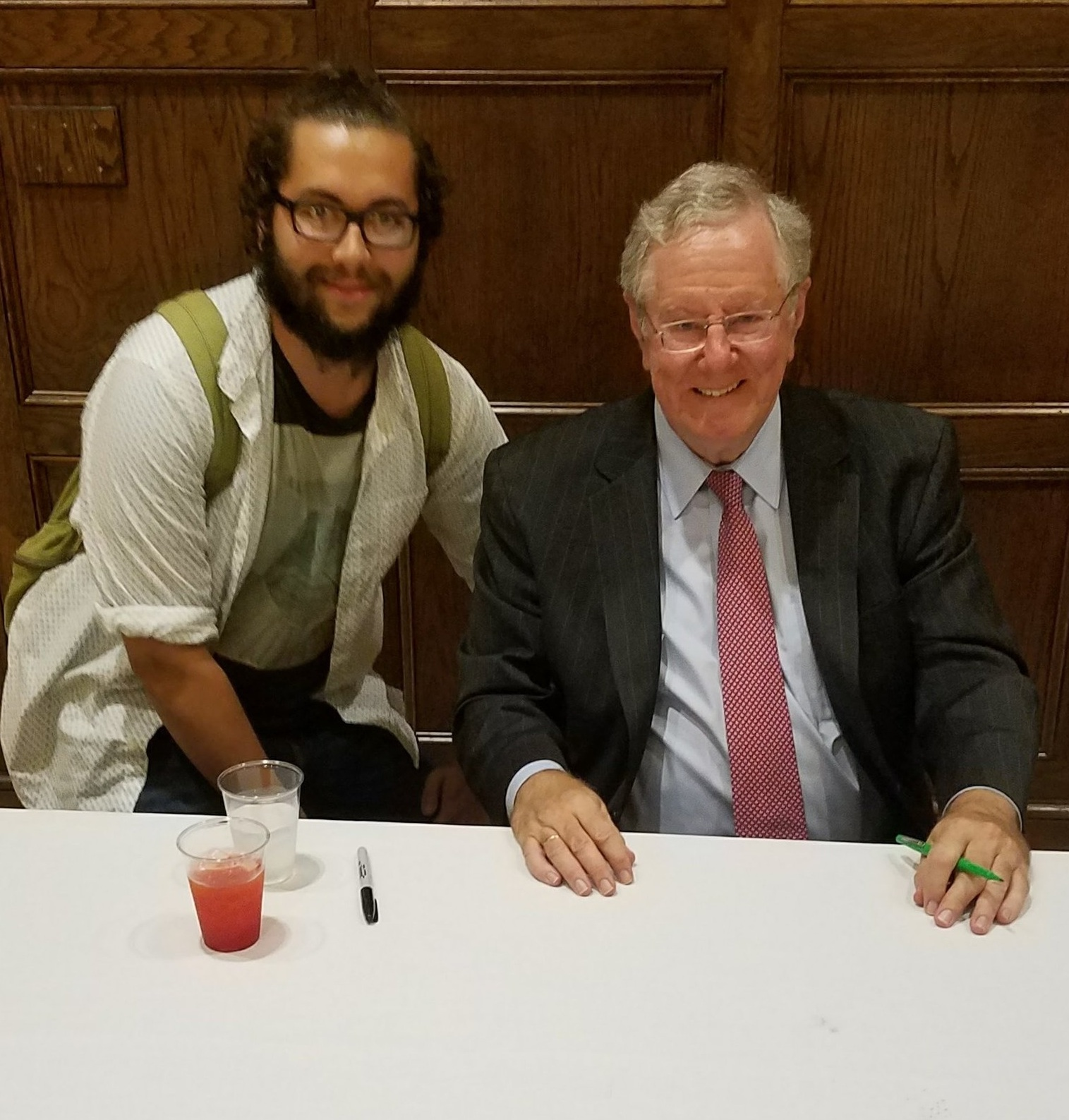 Steve Forbes at his most uncomfortable.