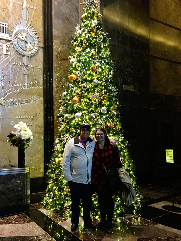 Christina-LeBlanc-and-Aaron-Morse-at-Empire-State-Building-Christmas-Tree-lobby-by-Live-the-Movies.jpg