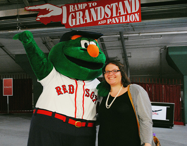 Christina-LeBlanc-with-Wally-Boston-Red-Sox-Fenway-Park-by-Live-the-Movies.jpg