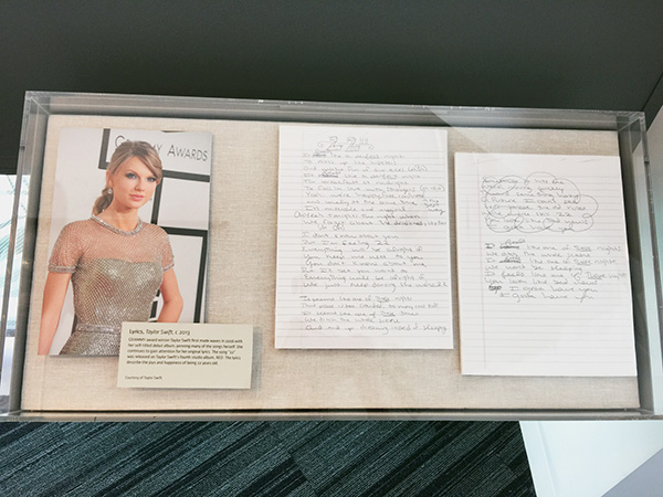 Taylor-Swift-handwritten-lyics-at-the-Grammy-Museum-at-LA-live-photo-by-Live-the-Movies.jpg