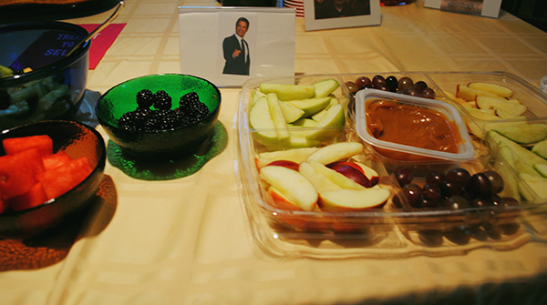 Chris's Corner: all of the fruits and vegetables.