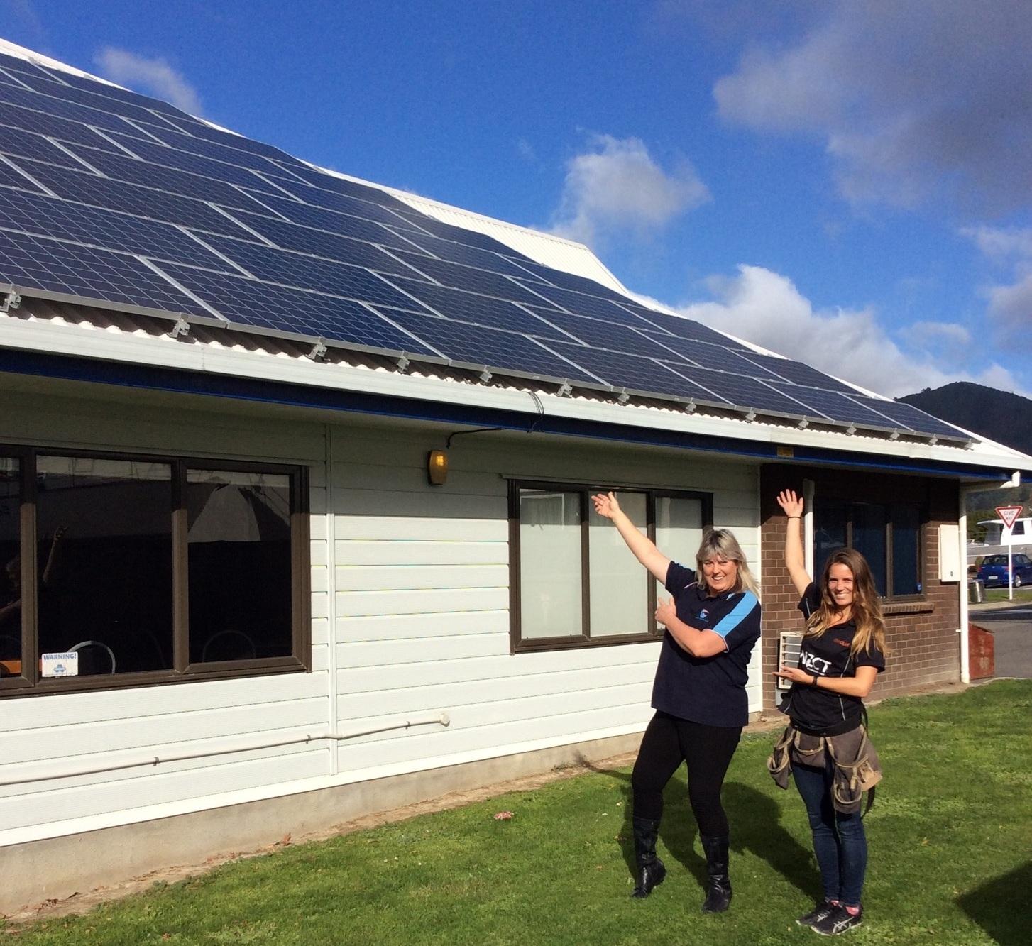 Waikawa Boating Club: reaping the solar rewards.