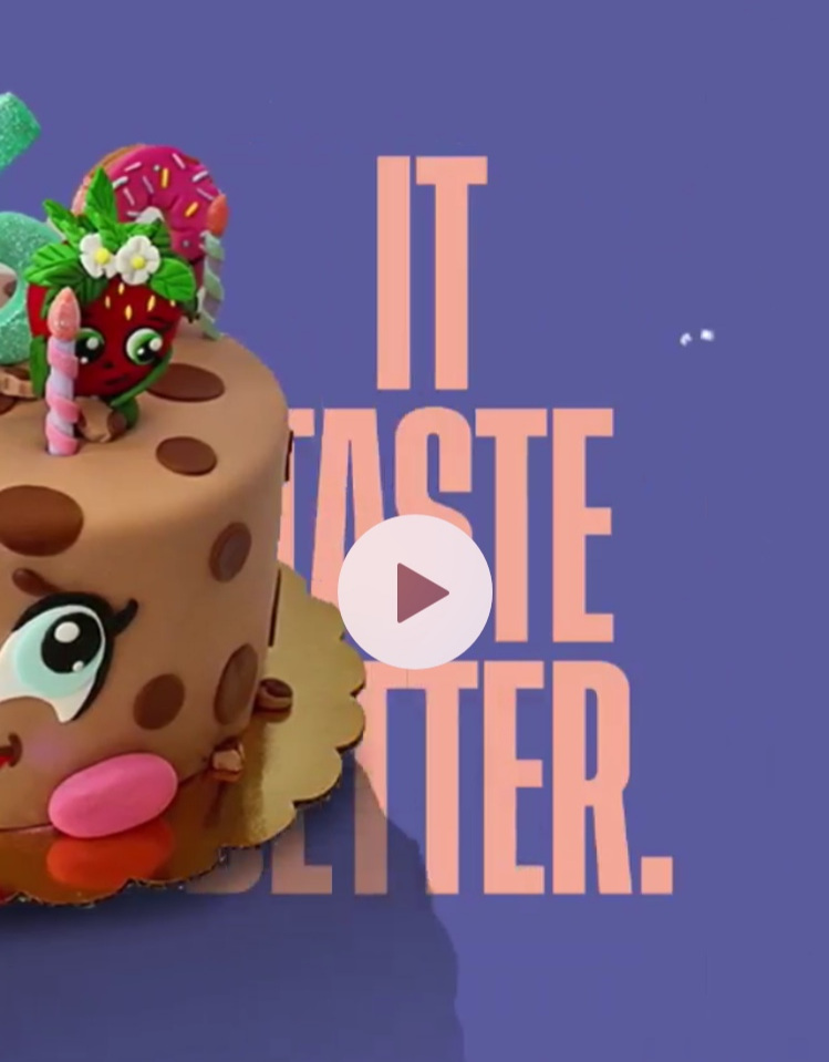 A Cakemaker - We commissioned a sweet animated treat for a cake baking legend we love to use for marketing.