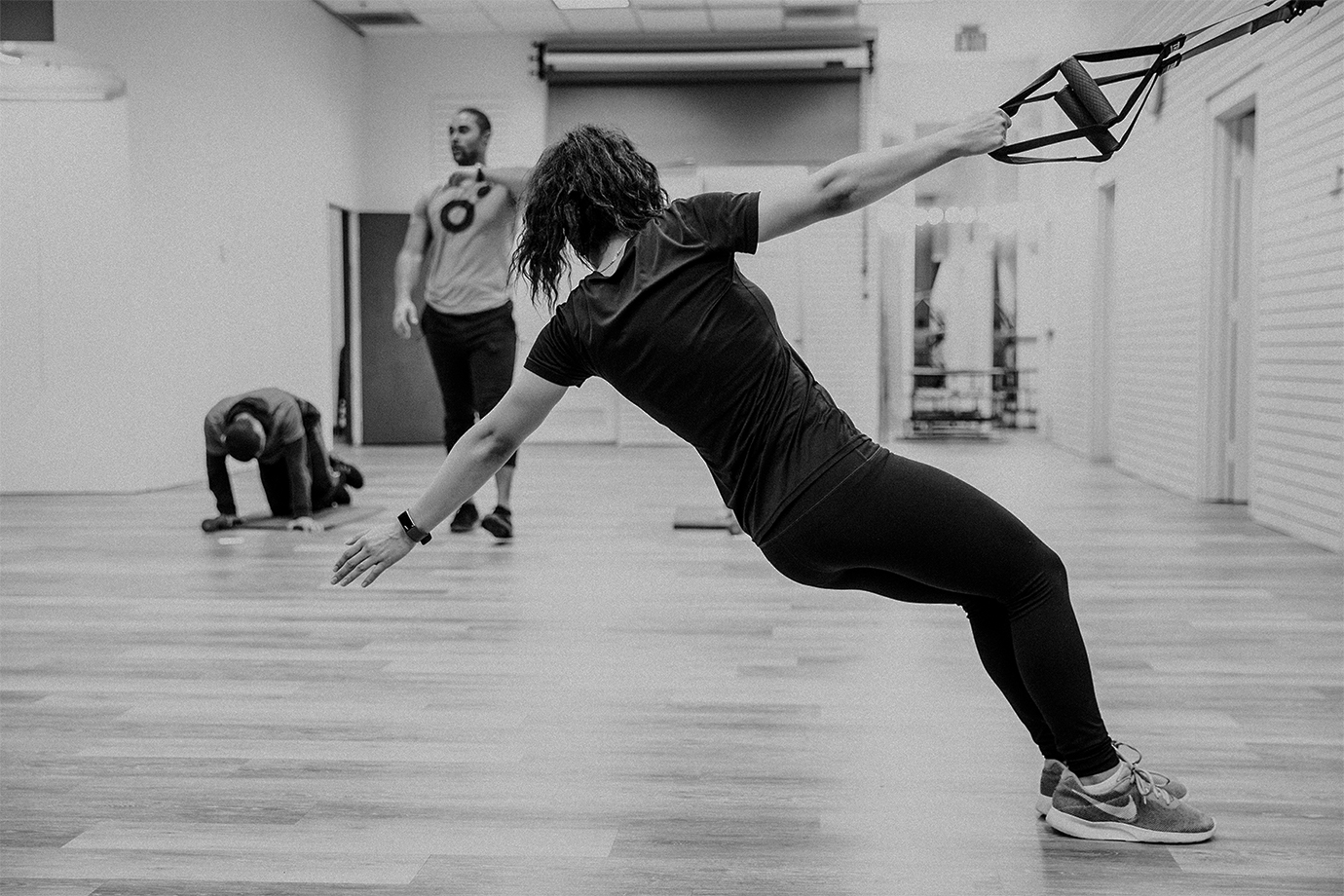 sweat - This high intensity interval training (HIIT) class is typically set up in a circuit format. We incorporate functional body weight exercises, medicine balls, jump ropes, TRX straps, a battle rope, and an agility ladder into the workout for an efficient full body training session.