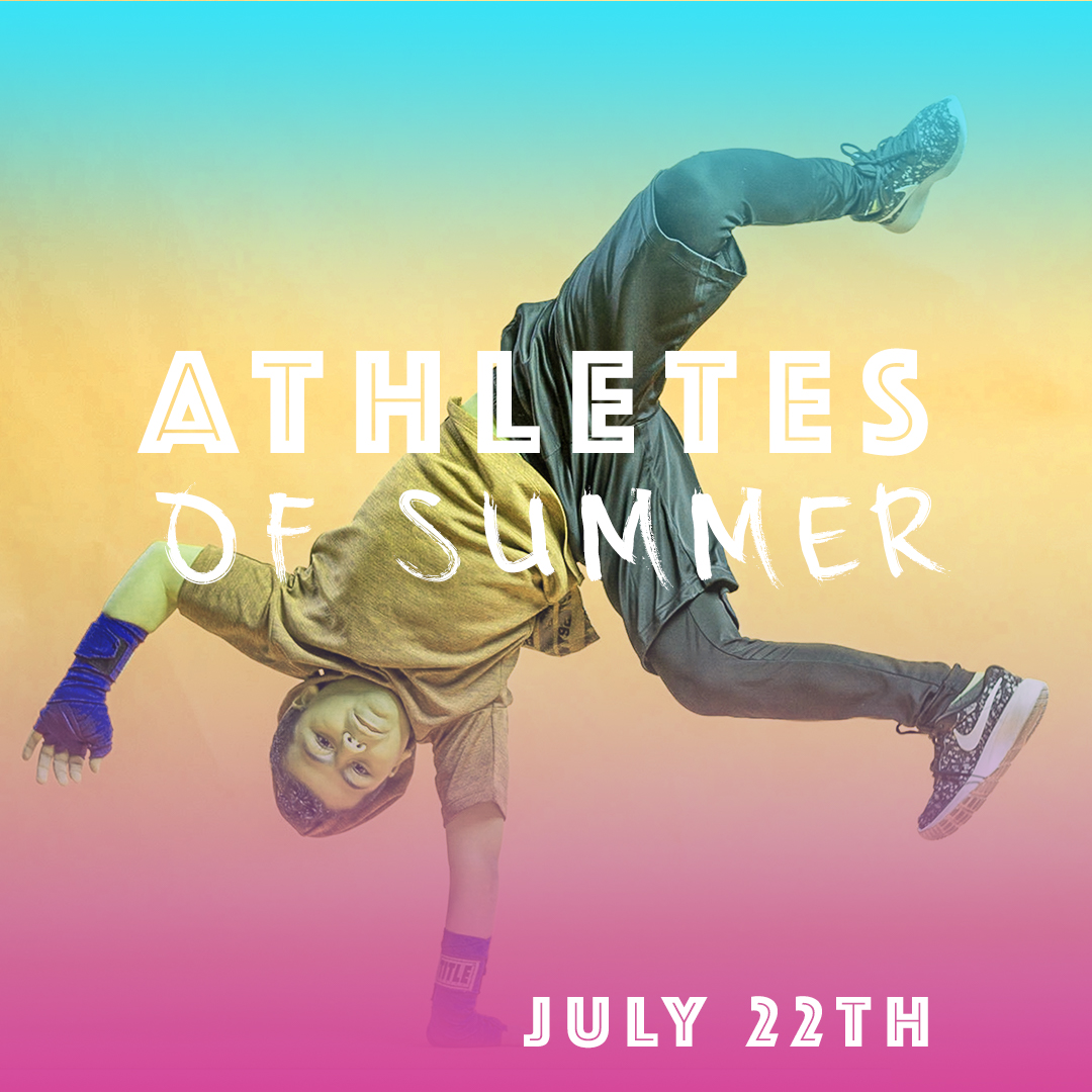 - July 22-26 10:00am - 3:00pmAthletes of Summer is back for the 11th year!!! Agenda: Train Like a Decathlete, The Art of Boxing, Soccer Skillz, Theatre Fun, and Action Film Stunts.CostMembers $199 per sessionNon-members $250 per sessionDiscounts are available:Sibling discount - $25 off2-week campers receive a flat $50 discountOnly one discount will be applied per camper.Deferred payments are available for members only.