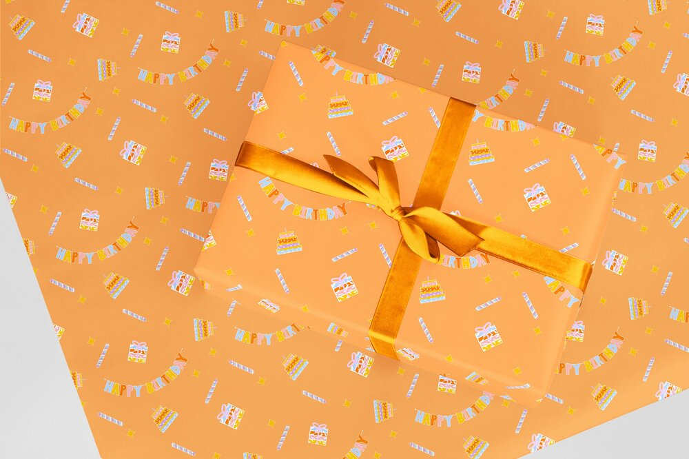 All of our beautiful wrapping paper is made from recycled materials, vegan, recyclable and zero plastic -  Zest for Life