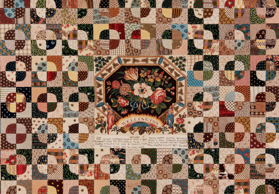 Patchwork Bed Cover 1829, Credit: Victoria and Albert Museum, London.