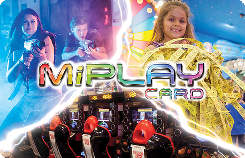 Classic Play - Load credits onto a MiPLAY Card and swipe the arcade games to play, each Arcade game can be up to $2$5 - $5 Credit$10 - $10 Credit + $2 Bonus Credit$20 - $20 Credit + $5 Bonus Credit$30 - $30 Credit + $8 Bonus Credit$50 - $50 Credit + $15 Bonus Credit$100 - $100 Credit + $40 Bonus CreditThese Cards can be shared or split