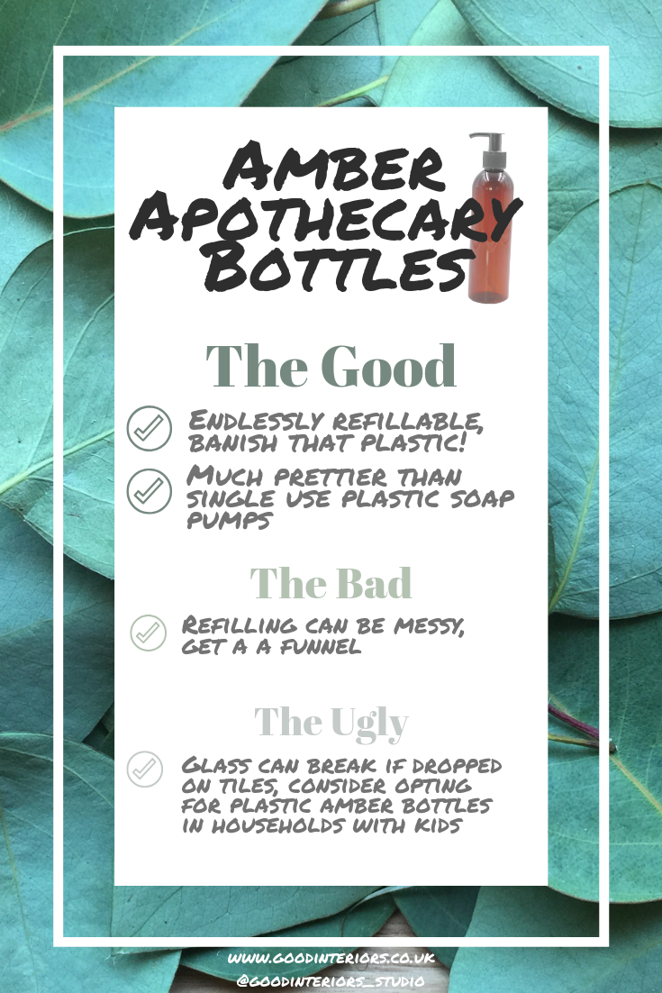 The Good, the Bad, the Ugly of refillable amber bottles