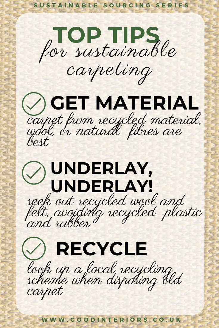 How to do carpeting sustainably