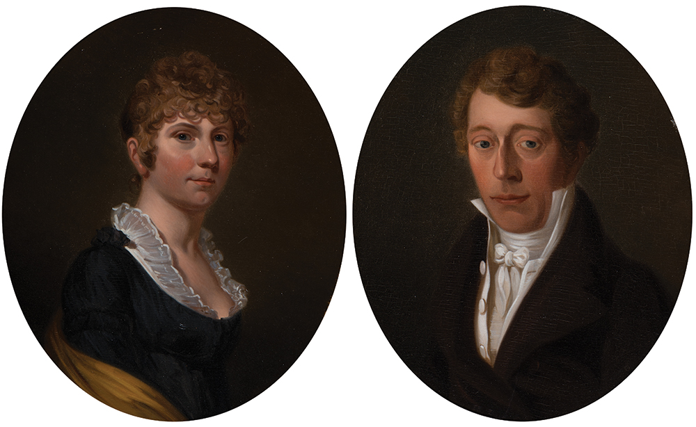 "18th/19th Century Dutch School  ""Anna Catharina de Kruyff"" & ""Petras Cunaeus"" (a pair)"