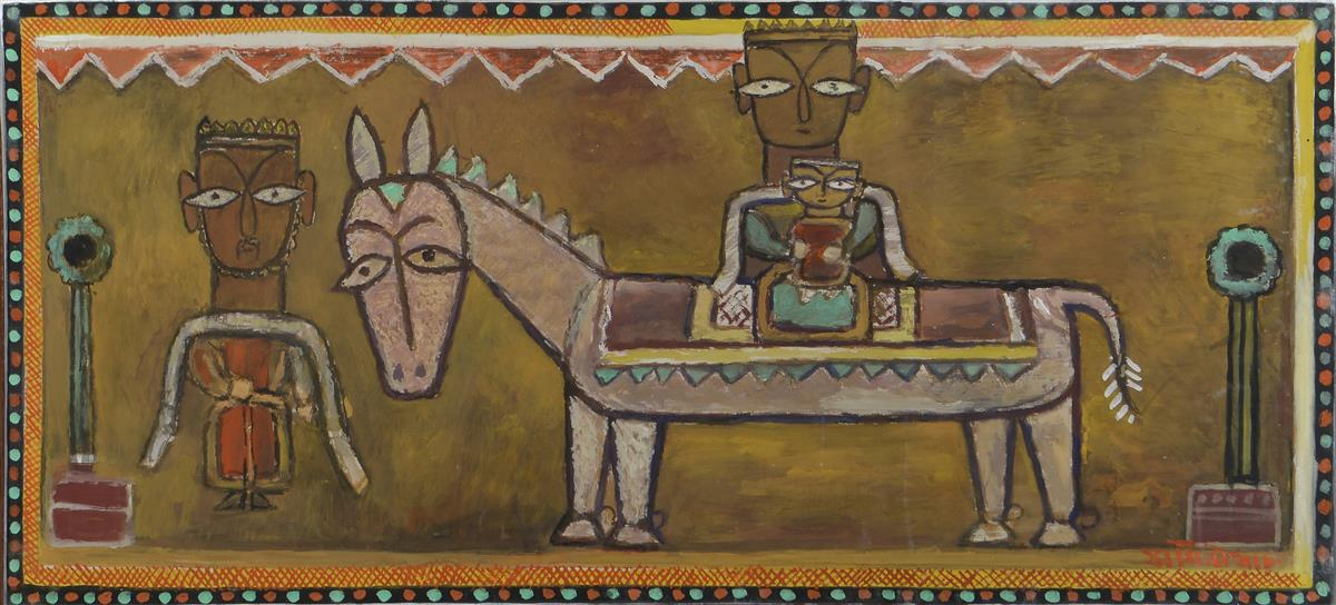 Jamini Roy  In. 1887-1972  The Flight into Egypt