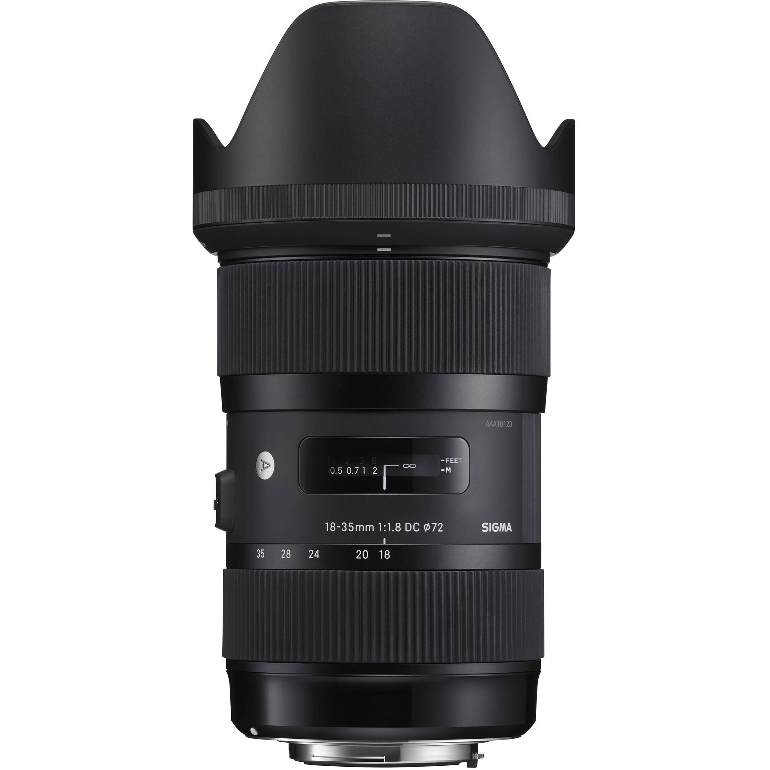 Lente Sigma Art 18-35mm f/1.8   $ 500 pesos por día.