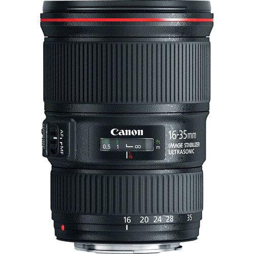 Lente Canon 16-35mm f/4 IS   $ 500 pesos por día.