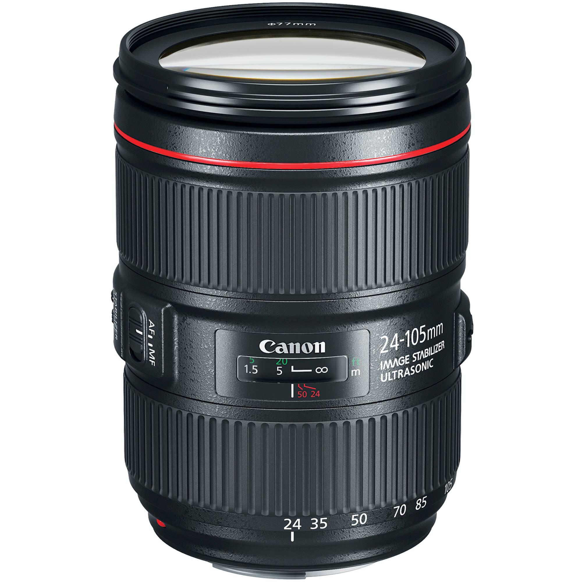 Lente Canon 24-105mm f/4 IS II   $ 400 pesos por día.