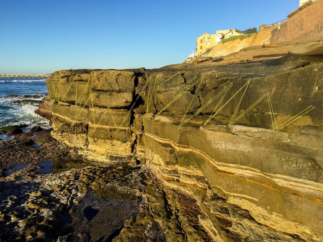 Untitled (cliff lines) - Richard Vivenzio