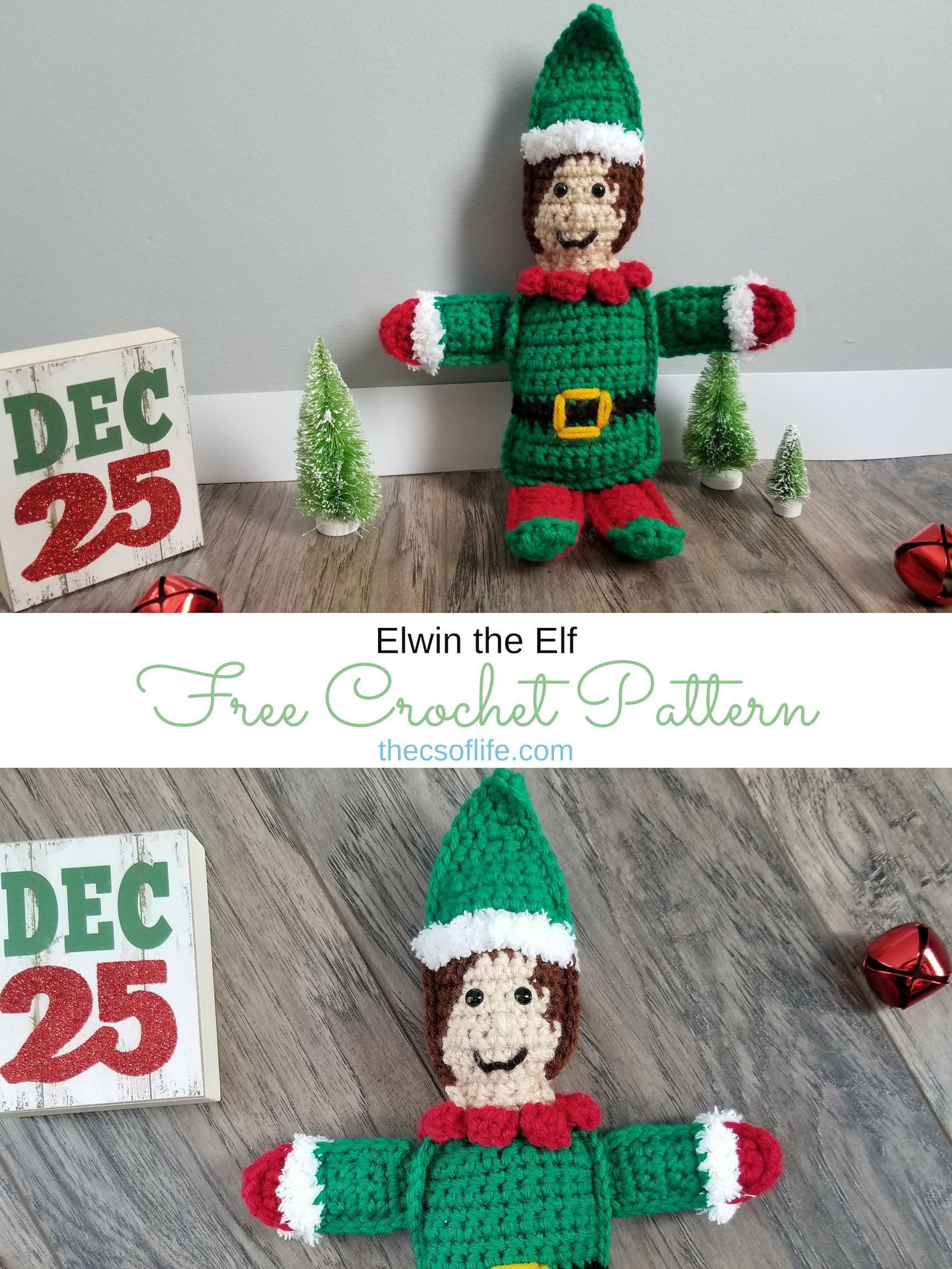 Elwin the Elf - Free Crochet Pattern