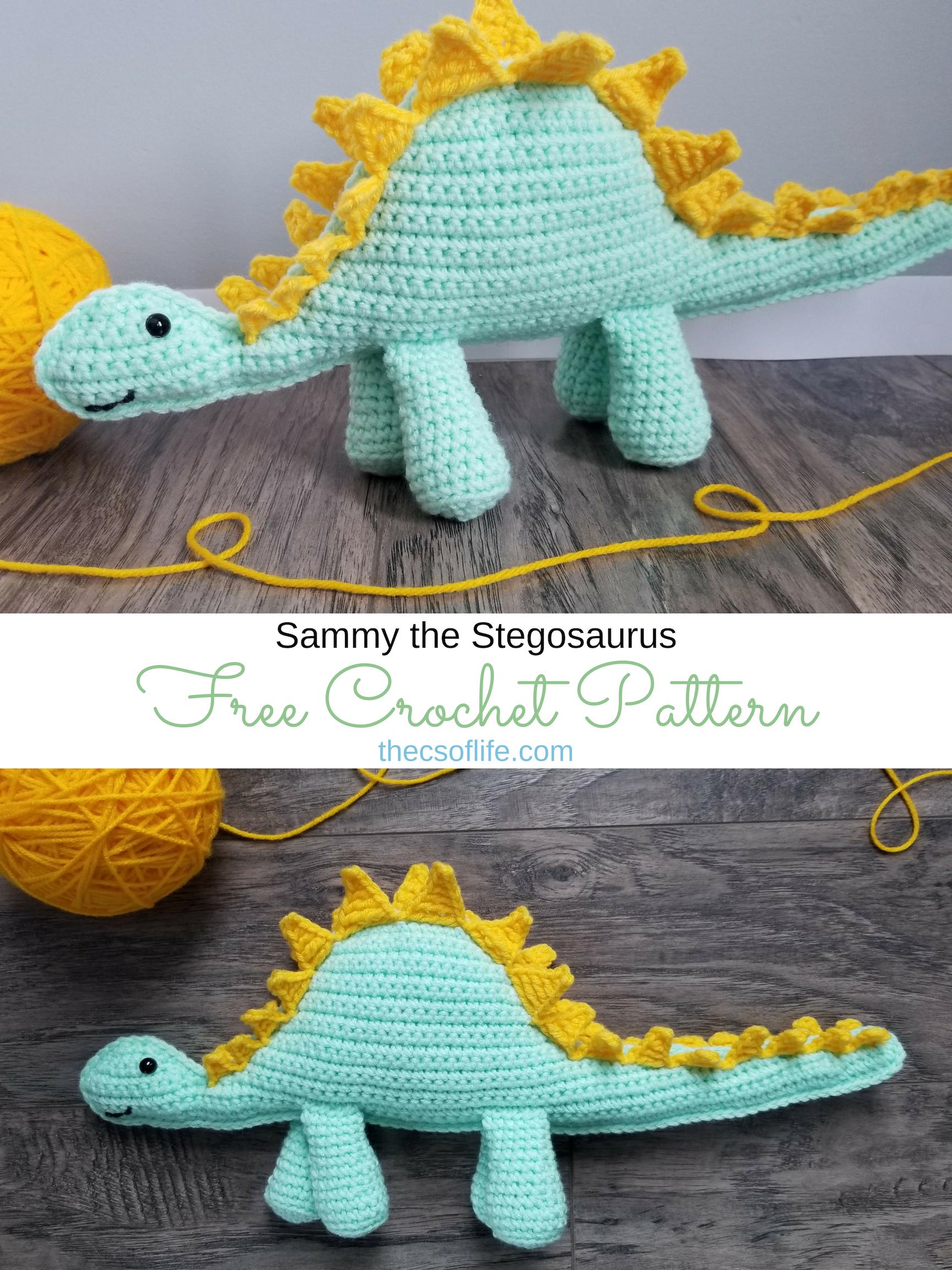 Sammy the Stegosaurus - Free Crochet Pattern