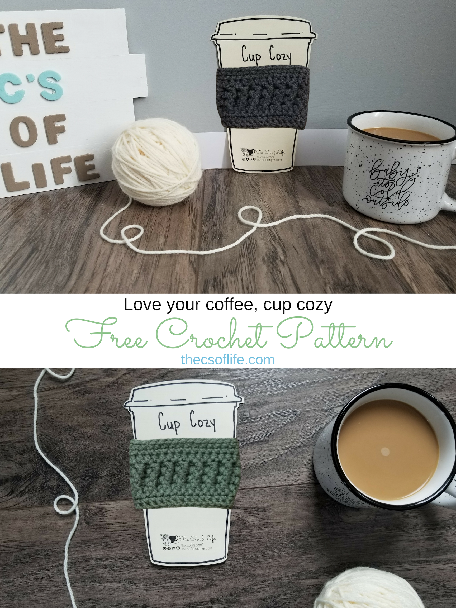 Love your coffee, cup cozy - Free Crochet Pattern