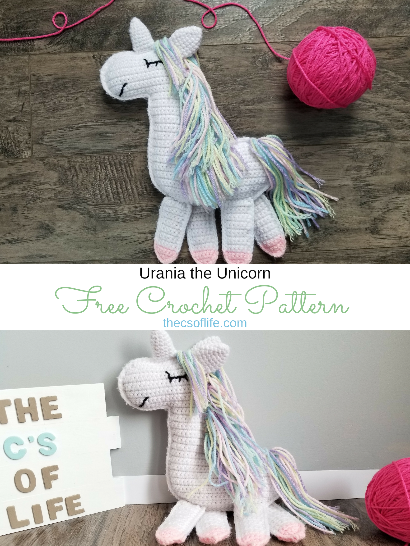 Urania the Unicorn - Free Crochet Pattern