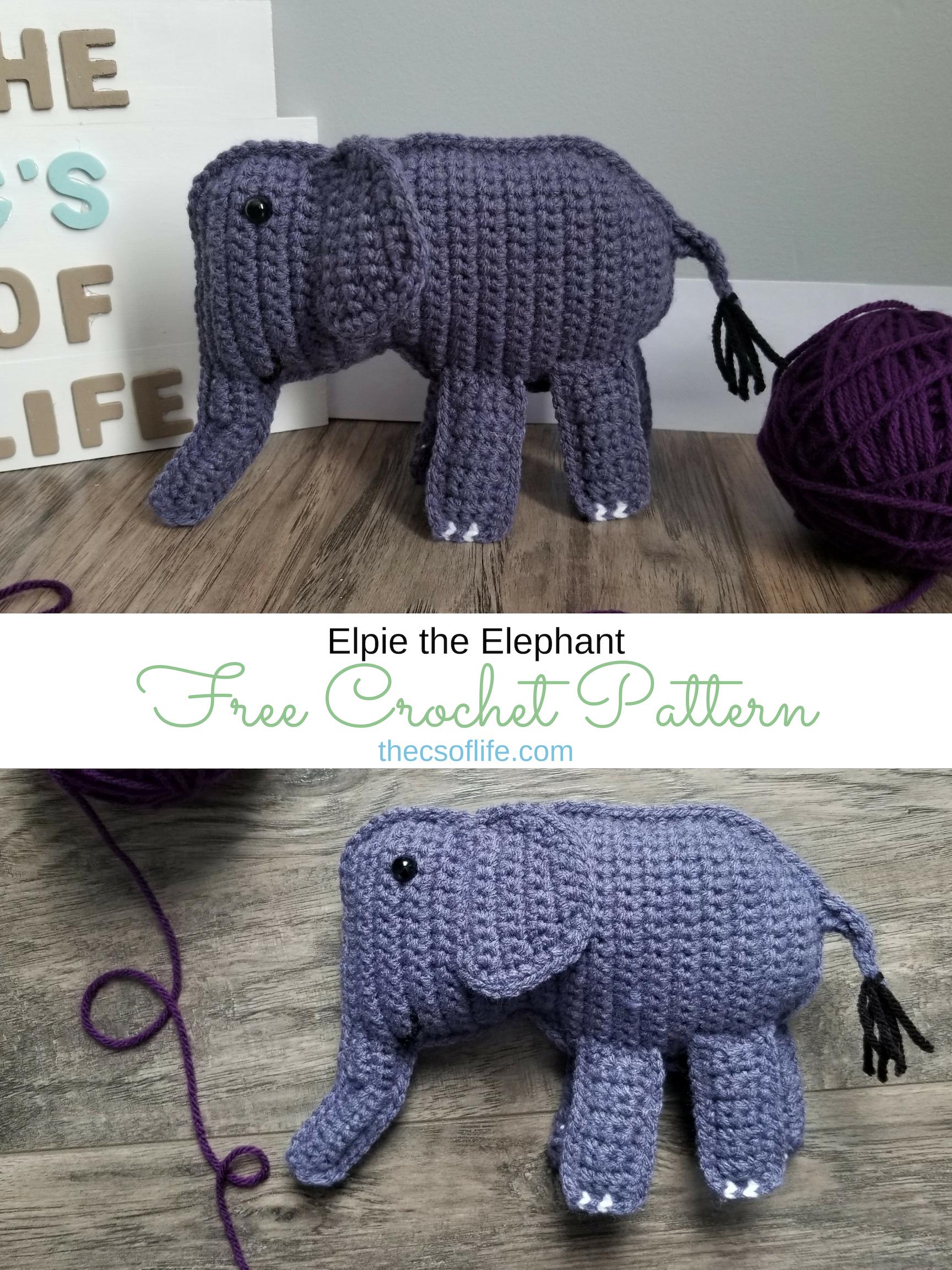 Elpie the Elephant - Free Crochet Pattern