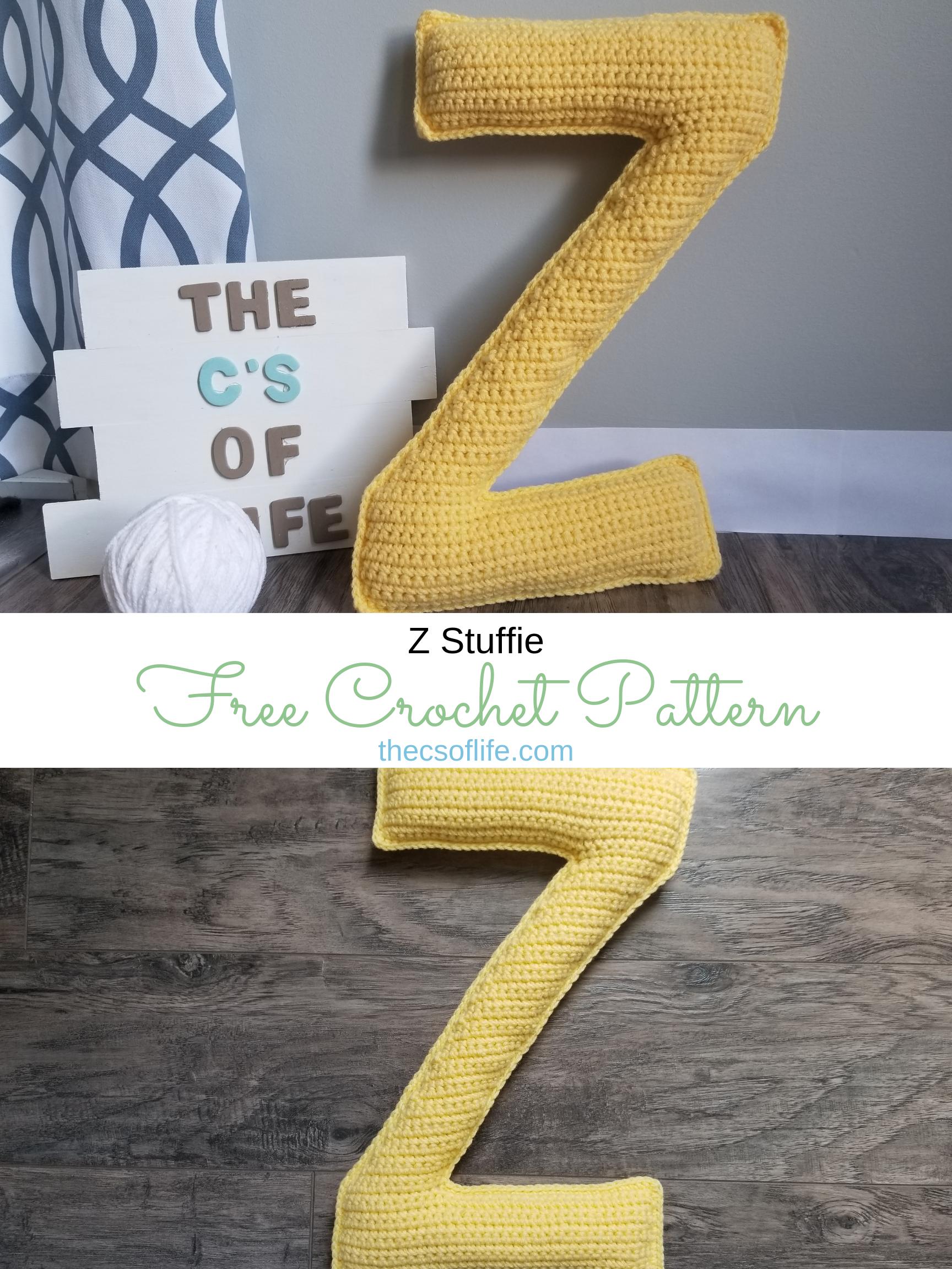 Z Stuffie - Free Crochet Pattern